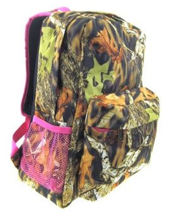 Personalized Girls Camo Backpack BOOKBAG by kozykidzboutique