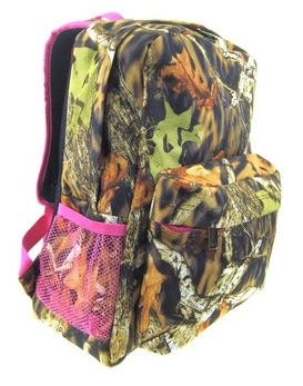 Personalized Girls Camo Backpack BOOKBAG PINK CAMO