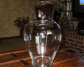 Large Urn Vase Clear Glass Wedding Centerpiece Tall Vintage Decor