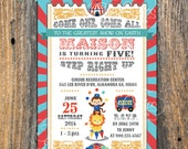 Circus Invitation - Carnival Birthday - Boys and Girls - Digital File You Print - Also for Baby Shower