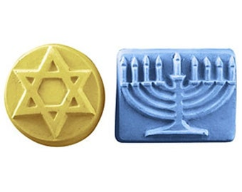 HANUKKAH Soap Set 2 Guest Bars Star of David Menorah Religious -Pick Scent Color