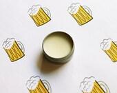 Beer Scented Lip Balm - Natural Shea Butter Lip Balm - Cocoa Butter - Beeswax - Lip Balm Tin - Lip Balm Favors - Matte Lipstick