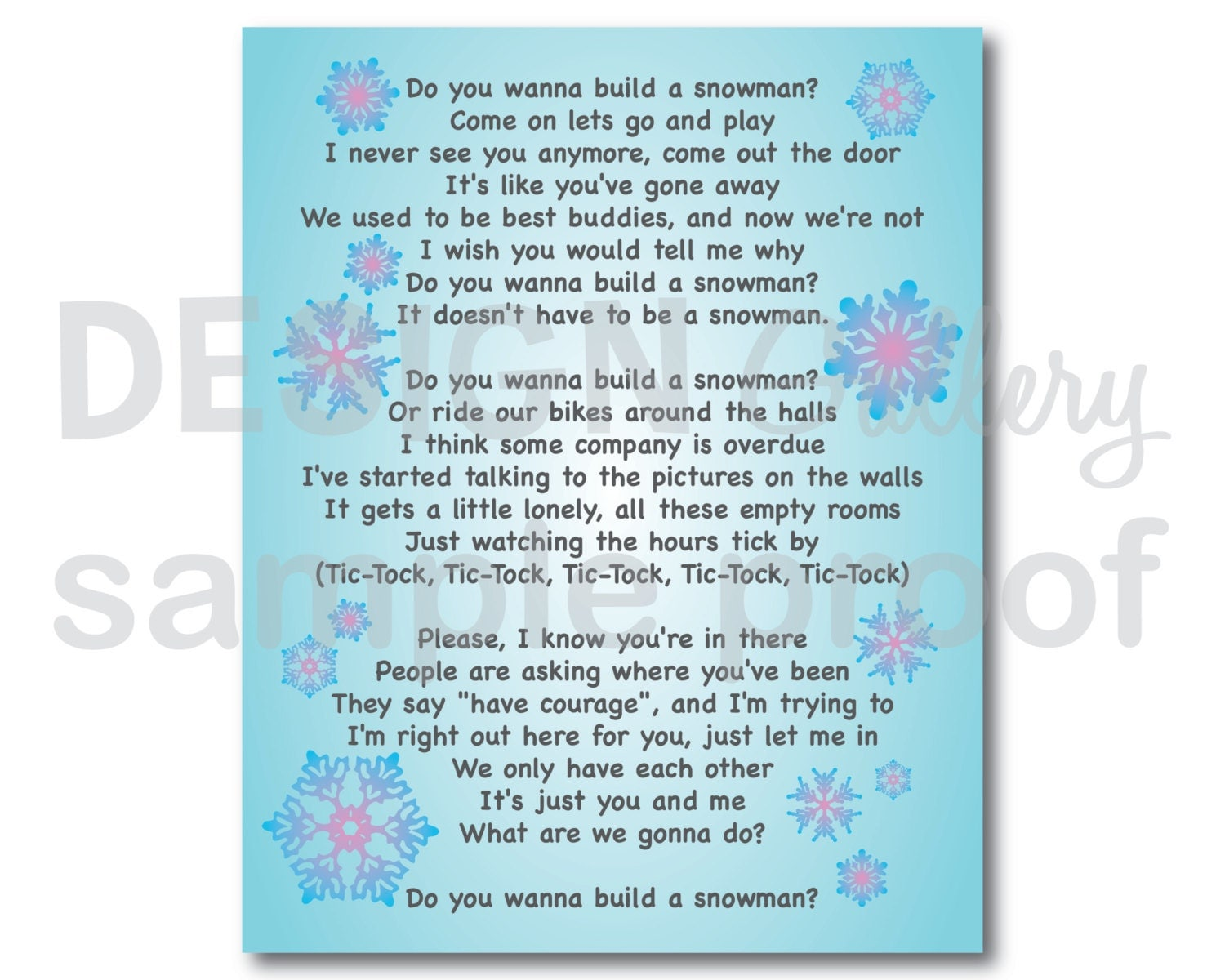 Do you want to build a snowman Song Lyrics DIY by ...