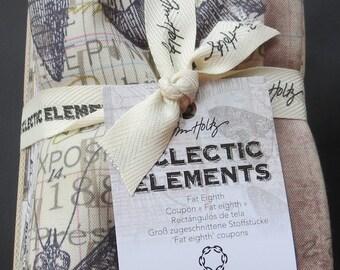 Tim Holtz Eclectic Elements Fat Eighth Bundle - 24 Pieces