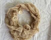 Donna Vintage Lace Infinity Scarf Lace Magnolia Mori Prairie Pearl Lagen