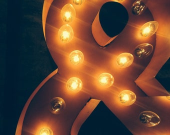 Ampersand, Still Life Photography, Marquee Lighting, Red, Orange, Yellow