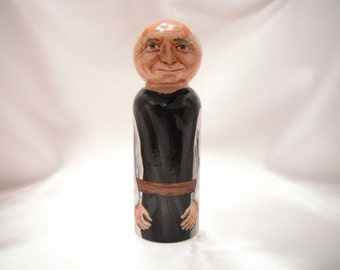 Father Thomas Merton - Catholic Wooden Peg Doll Toy -  made to order