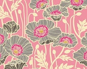 Home Dec Heavyweight Sateen Cotton - Pristine Poppy in Pink  SAJD019 - NOTTING HILL - Joel Dewberry for Free Spirit Fabric  - By the Yard