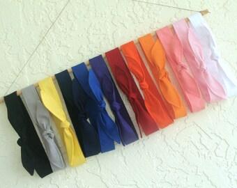 Solid Color Skinny Headband Back to school Girl School Spirit Teen Women Hair Accessory