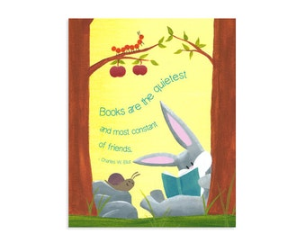 Reading Nook Quote ~ Kids Book Sign ~ Reading Poster