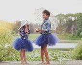 Navy Tutu by Atutudes Girls 1st birthday tutu Navy Tulle Skirt Flowergirl Tutu