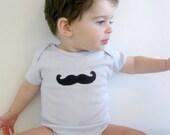 Mustache Onesie, Movember Baby Boy Onesie- long or short sleeves