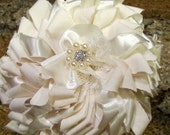 75% DISCOUNT Wedding flower bouquet, Bridal bouquet, Bridesmaid bouquet, Fabric bridal bouquets, Fabric Wedding bouquets