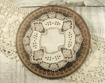 Vintage / Antique Doily / Crocheted / Antique Lace Doily Hand Made Lace / Cutwork / Tea Doilie / Antique Hand Embroidery