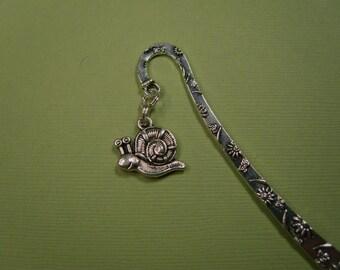 Whimsical garden snail bookmark