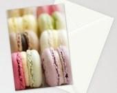 Greeting card folded 5x7 'macaron' - photo - sweet - french - pastry - pastel - food - stationery  - folded - gift