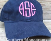 Personalized Monogrammed Baseball Cap Hat. MANY COLORS AVAILABLE
