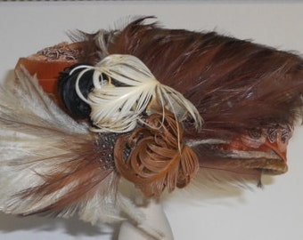 Vintage Velvet and Feathers Hat