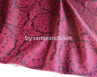 "silk fabric, yarn dyed foral brocade weaved silk fabric, half  yard by 44"" wide"