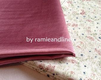 "silk fabric, pink Silk cotton blend charmeuse satin fabric, half yard by 44"" wide"