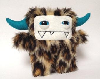 Chui the leopard faux fur plush monster