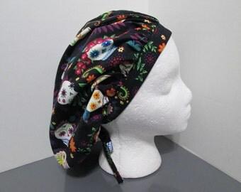 Sugar Skulls Bouffant Surgical Scrub Cap