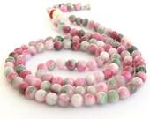 6mm Tibetan Colorful Stone Round Beaded 108 Prayer Beads Rosary Lucky Mala  ZZ203
