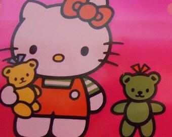 Neon Strawberry Hello Kitty Pencil Case.1984.Sanrio.XtraRare