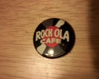 SALE Vintage Pinback Button (Rock-Ola Cafe)