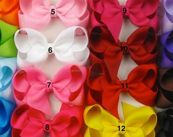 Boutique Baby Girl Set of 16 Hair Bow Clip attached to alligator clip.Perfect for Photo props infants Starter Set Toddlers Holiday