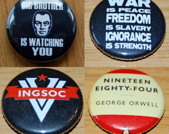1984 Button Badge 25mm / 1 inch George Orwell