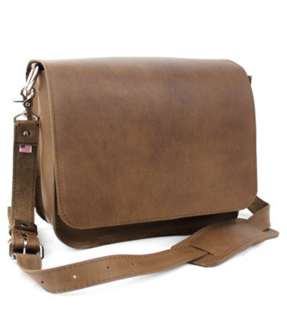 "14"" Brown Newtown Mission Laptop Bag"
