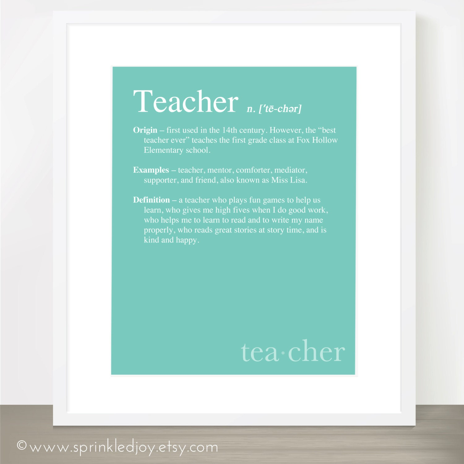 TEACHER DEFINITION Print Dictionary Inspired Print Teacher