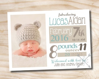 MODERN POSTER Birth Announcement - You Print