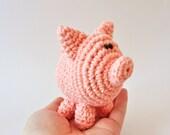 Crochet Pattern, Amigurumi Pattern, Amigrumi Doll, Pig Crochet Pattern, Mini Pig Pattern, Crochet Pig Pattern, Easy Crochet Pattern