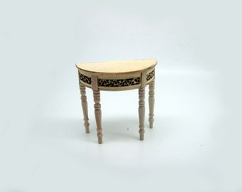 furniture miniature halfround table unpainted code