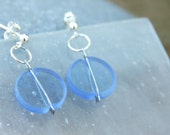 Blue earrings,Glass earri...