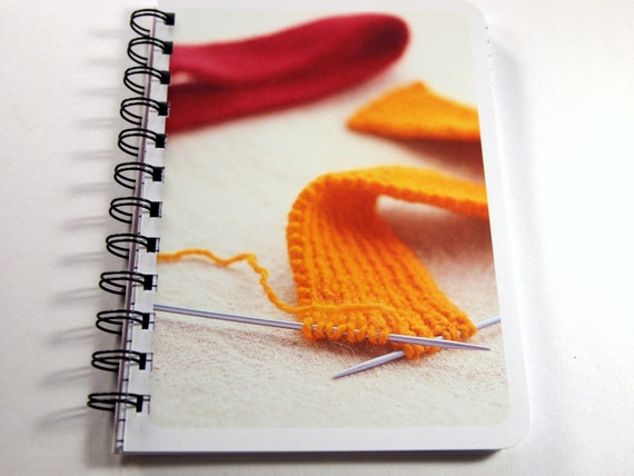 Knitting Project Journal : Knitting notebook journal recycled