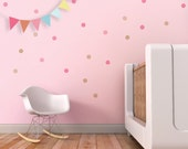 Confetti Wall Decal Dots Wall Decal Pink Circles Stickers Kids Wall Decal Girl Room Decor Confetti Stickers. Confetti Children Wall Decal
