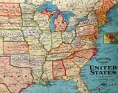 Map Lamp Table Lamp USA Map