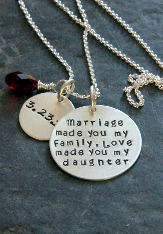 Gift Ideas For Mother To Give Daughter On Wedding Day : ... , Marriage, Mother, Gift from Grooms Mom, NEcklace, Wedding