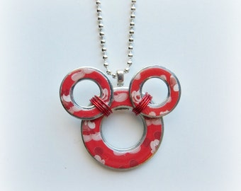 Mickey Mouse Washer Necklace
