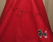 Poodle skirt perfect for your 1950's party! All girls and womens sizes available.