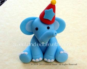 CIRCUS ELEPHANT 3D figure. Edible Cake Topper