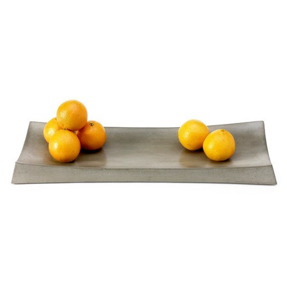 Gray Concrete Simple Tray. Display Tray. Concrete Tray