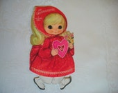 Vintage Valentine Card, For Grandaughter