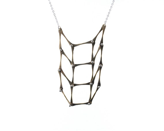 items similar to handmade jewelry  kinetic brass and sterling silver square checker board