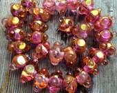Koyglass 30 Shimmery Pink Mist  Lampwork Beads