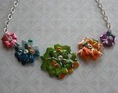 Aluminum Blooms Summer Crush Necklace Series...recycled aluminum can jewelry