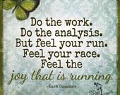Joy of Running- Inspirational run Art Print -  training fitness run race marathon